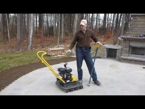 How To: Compact Concrete Paving Slabs