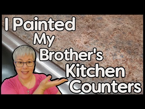 How to Paint Countertops - DIY Kitchen Update on a BUDGET