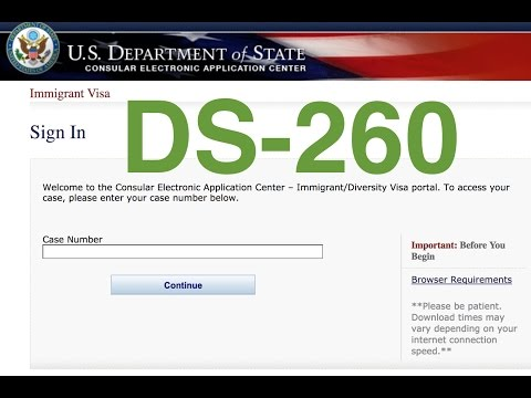 Form DS-260 / Форма DS-260 (2019) - YouTube