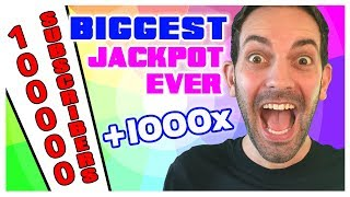 🎰My BIGGEST Jackpot EVER ➡Over 1000X 🎉Celebrating 100,000 Subscribers! ✦ Brian Christopher Slots