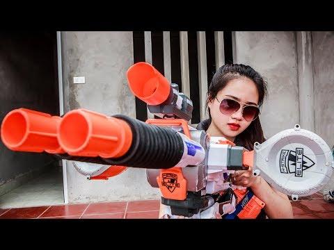 LTT Nerf War : SEAL X Nerf Guns war criminal group in My home   Seal x with Skill Mega Nerf Guns
