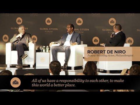 Robert De Niro speaks at Global Citizen Forum 2017