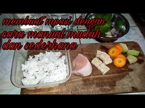 Resep Mpasi 7 Bulan Menu 4 Bintang Nasi Dada Ayam Tempe Wortel Dan Labu Siam Youtube