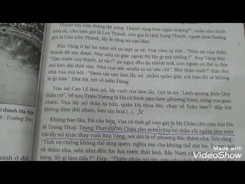 Truyện An Dương Vương và Mị Châu- Trọng Thủy (Truyền thuyết)- Phần đọc văn bản