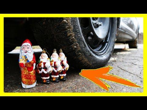 Crushing Crunchy & Soft Things By Car! - EXPERIMENT: CAR VS Santa Claus