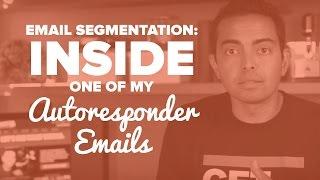 Email Segmentation: Inside One of My Autoresponder Emails - SPI Tv, Ep. 31