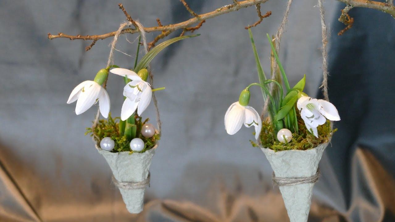 Fruhlingsdeko Basteln Tinker Spring Decoration Super Einfach