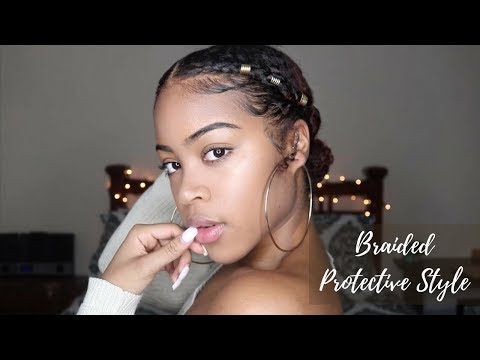 quick-and-easy-go-to-natural-protective-style- -braided-pony