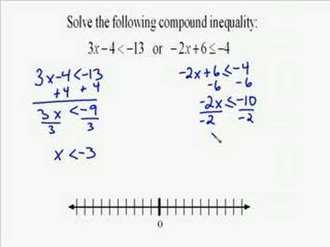 A16.9 Compound Inequality Example - YouTube