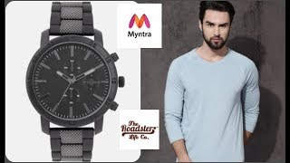 Roadster Watch And Roadster Full Sleeves T-shirt Myntra Unboxing