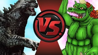 GODZILLA vs GEON! Cartoon Fight Club Episode 55