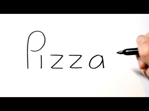 How to Turn Words Pizza into a Cartoon #9