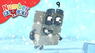 Numberblocks - Counting in the Snow! | Learn to Count