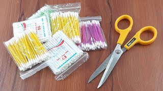 Amazing creative idea with cotton buds | Best craft idea | DIY arts and crafts | DIY cotton buds