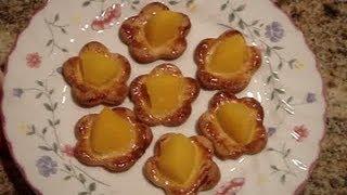 Low Calorie Mini Peach Tart / Cookie Recipe
