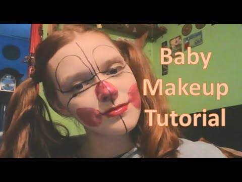 Five Nights at Freddy's: Sister Location Baby Makeup Tutorial