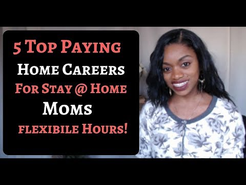 5 High Paying Flexible Work At Home Jobs For Stay@Home moms.