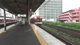 近鉄1400系1407編成急行松阪行き到着