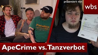 ApeCrime vs. Tanzverbot: RA Solmecke spricht Klartext | Rechtsanwalt Christian Solmecke