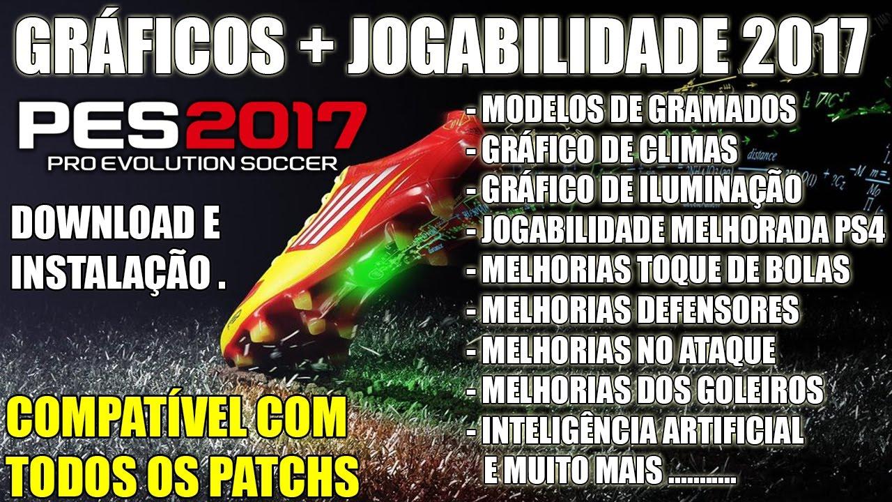 Resultado de imagem para PES 2017 - NOVO MOD GRÁFICO + JOGABILIDADE PS4 2017 PARA PC COMPATÍVEL PARA TODOS OS PATCHS .