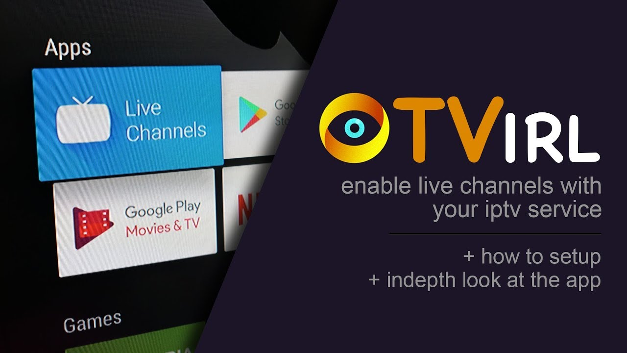 TVirl intergrates your provided IPTV channels to Android TV (Shield TV or  Mi Box ONLY)