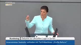 NEIN zum völkerrechtswidrigen Angriffskrieg gegen Syrien - Sahra Wagenknecht - Bundestag (18.4.2018)