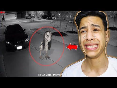 أشياء مخيفة صورتها كاميرات المراقبة لم يجدو لها تفسير (مومو الشريرة) !!🔥😱