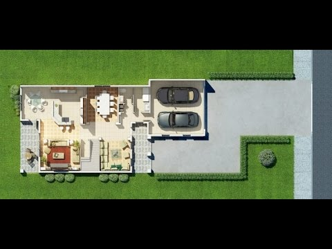 Planos de casas peque as en 3d con medidas youtube for Planos de casas con medidas