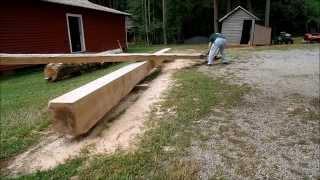 Granberg Alaskan Chainsaw Mill   31 Foot Oak Beam   Side 3