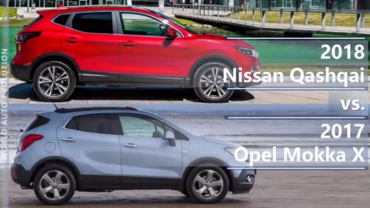 2018 nissan qashqai vs 2017 opel mokka x technical comparison youtube. Black Bedroom Furniture Sets. Home Design Ideas