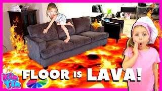 Kin Tin The Floor Is Lava Challenge and New Cotton Candy Cuties Toy