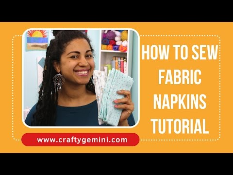 How to Sew Fabric Napkins- Perfectly mitered corners!