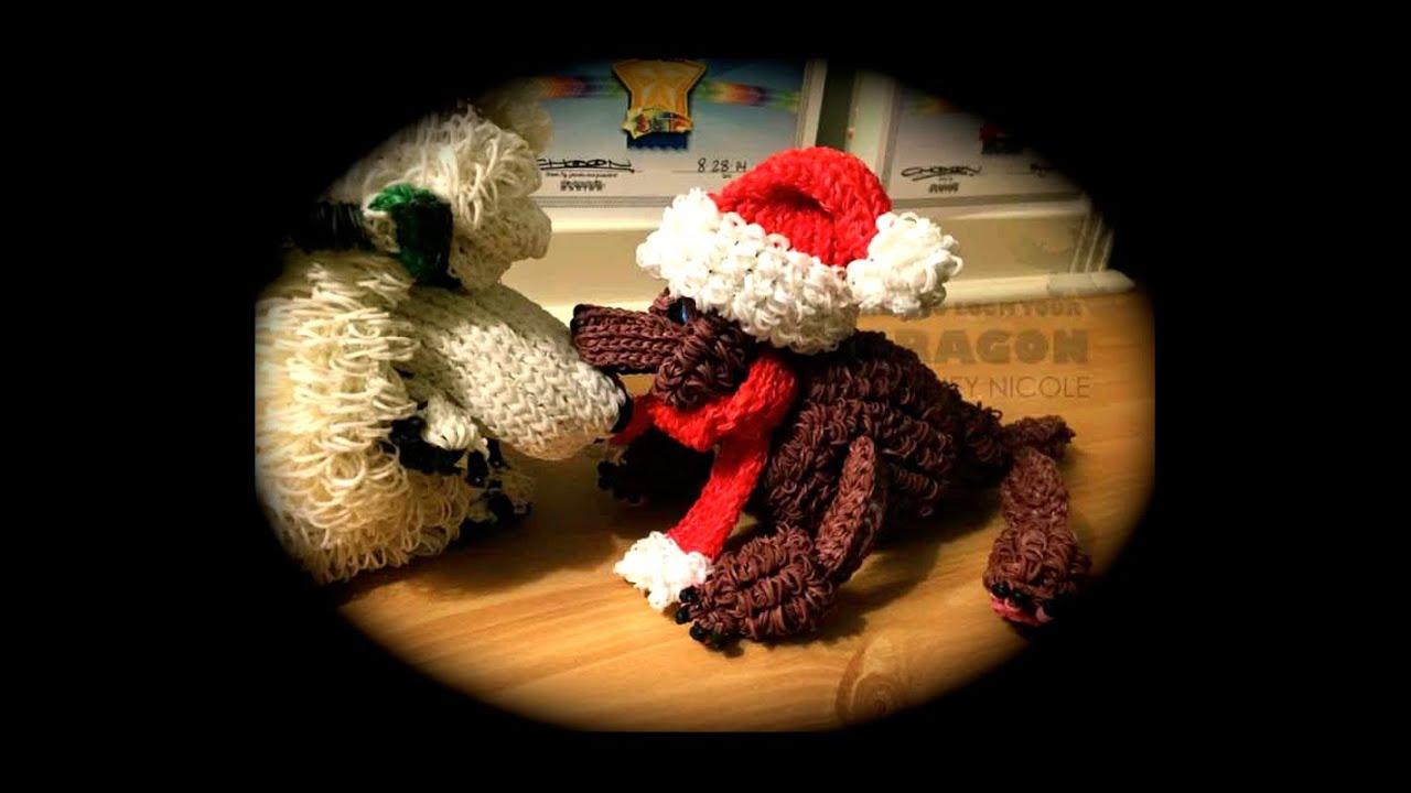 Rainbow Loom Santa Hat for Diva/Diamond Poodle