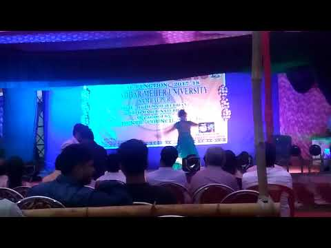 GM university annual function classical dance girl performance
