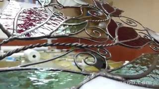 ВИТРАЖИ! Изготовление витражей Тиффани своими руками. STAINED GLASS WINDOW sun catcher!