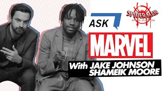 Jake Johnson & Shameik Moore answer YOUR Spider-Man: Into the Spider-Verse questions!    Ask Marvel