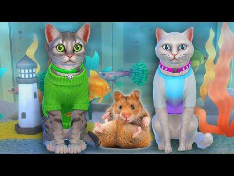 ТОМ 2 В The Sims 4 АНДЖЕЛА ЖДЕТ КОТЯТ |  ХОМЯК УКУСИЛ ЗА НОС