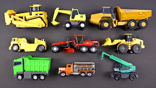 Learning Construction Vehicles for Kids - Construction Equipment Hot Wheels Matchbox Tomica トミカ Tayo