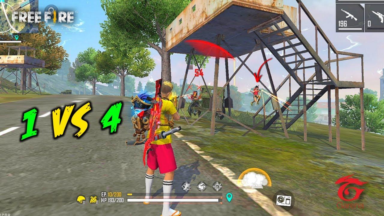 Unicorn AK47 Solo vs Squad OverPower Ajjubhai Gameplay - Garena Free Fire