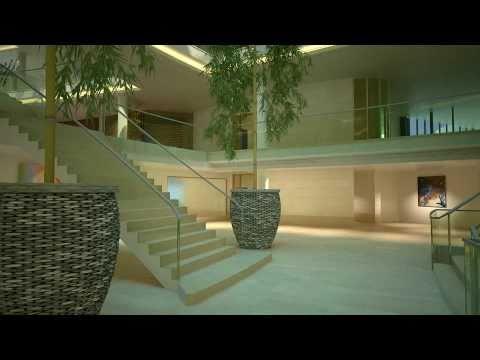 3D Animatie KPMG Hoofdkantoor Amstelveen - Interieur - YouTube