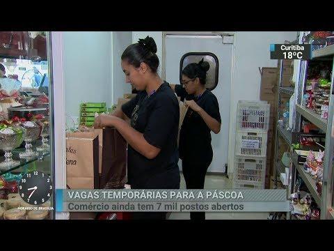 Comércio está contratando temporários para as vendas de Páscoa | SBT Brasil (07/03/18)