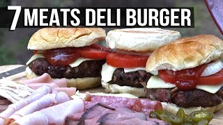 7 Meat Deli Burgers recipe by the BBQ Pit Boys