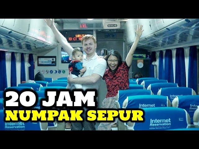 20 JAM PERJALANAN! Serunya Naik Kereta Api Indonesia Sama Keluarga
