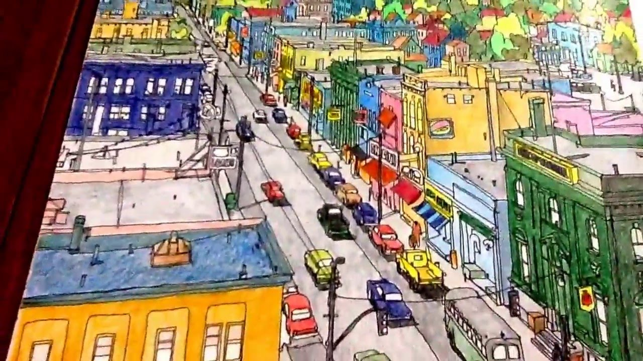Fantastic Cities An Adult Coloring Book By Steve
