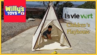 Lavievert Indian Canvas Teepee Children Playhouse Kids Play Tent - Willy