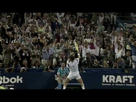 Connors 1991 US Open - the crowd reaction gives me chills to this day!