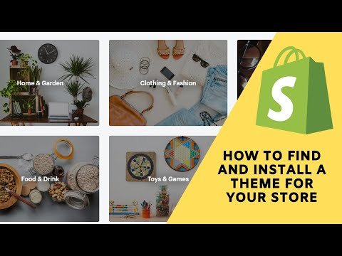 Shopify Tutorial:   How to find a theme for your store and choose a category that fits your business