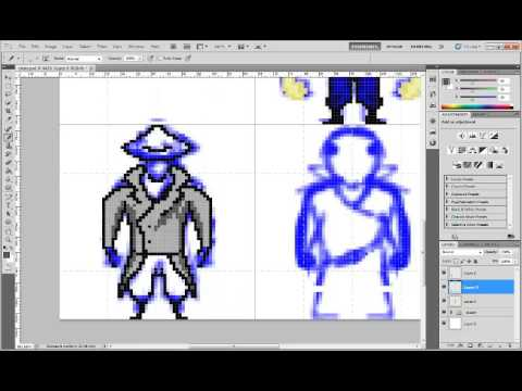 How I draw 64x64 pixel character 2