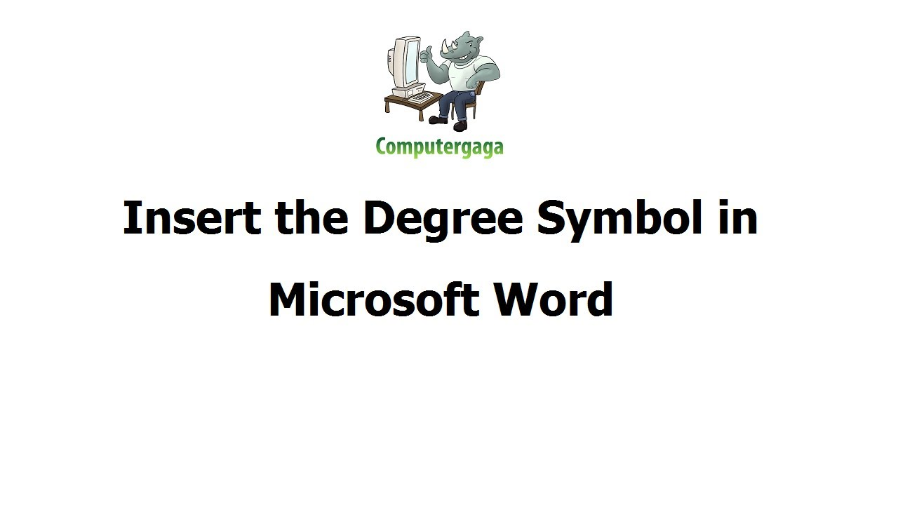 Insert Degree Symbol In Microsoft Word Youtube