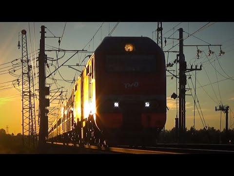 Электровоз ЭП2К-234 с поездом №079 (СПб - Волгоград), перегон Рябово - Любань
